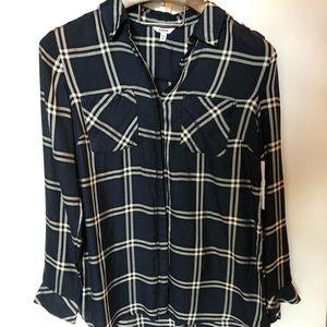 🍍 NWT Sonoma plaid blouse